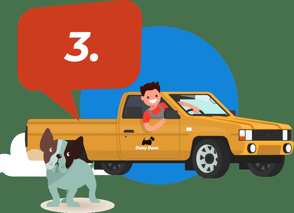 daizy dooz pet waste truck